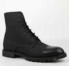 Gucci Men's Black Fabric/Leather Ankle Boots GG Detail 12.5G/US 13 368466 1000