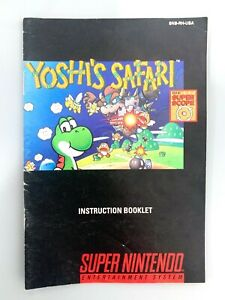 Yoshi-039-s-Safari-SUPER-NINTENDO-SNES-INSTRUCTION-MANUAL-BOOKLET-BOOK-ONLY