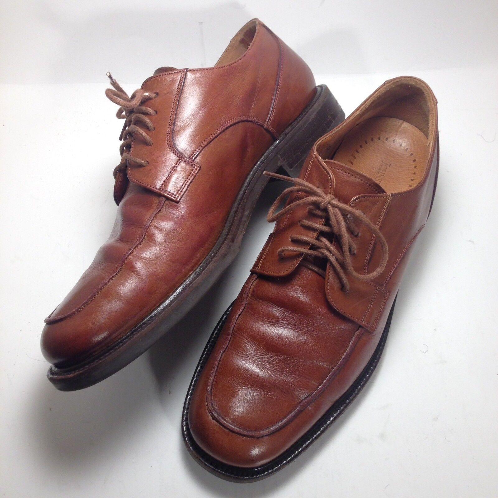 Johnston & Murphy Passport ITALY Brown Leather Italian Oxford Dress shoes Sz 8.5