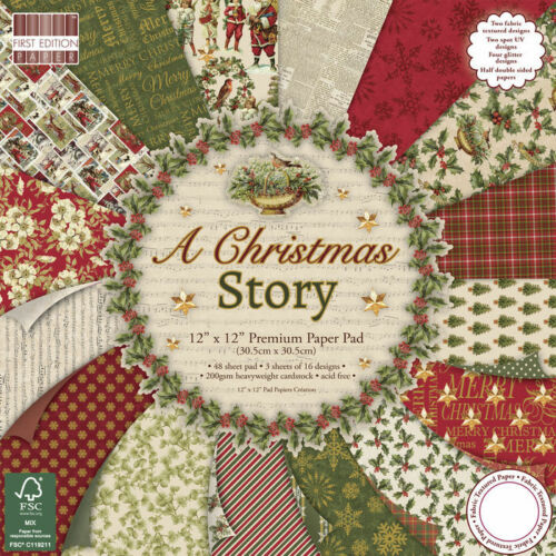 NEU Scrap-Block Christmas Story 48 Bogen