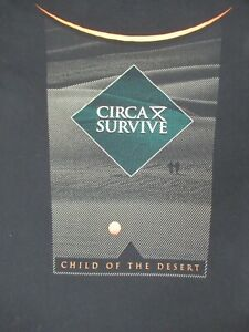 Circa-Survive-Bambino-di-il-Deserto-XL-Nero-T-Shirt-D279