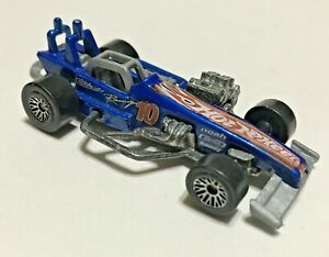Vintage Hot Wheels 1997 Supermodified Dark Blue Diecast Car Malaysia Loose 1:64