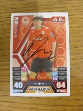 2013/2014 Autograph: Cardiff City - Kim, Bo-Kyung [Hand Signed 'Topps Match Atta