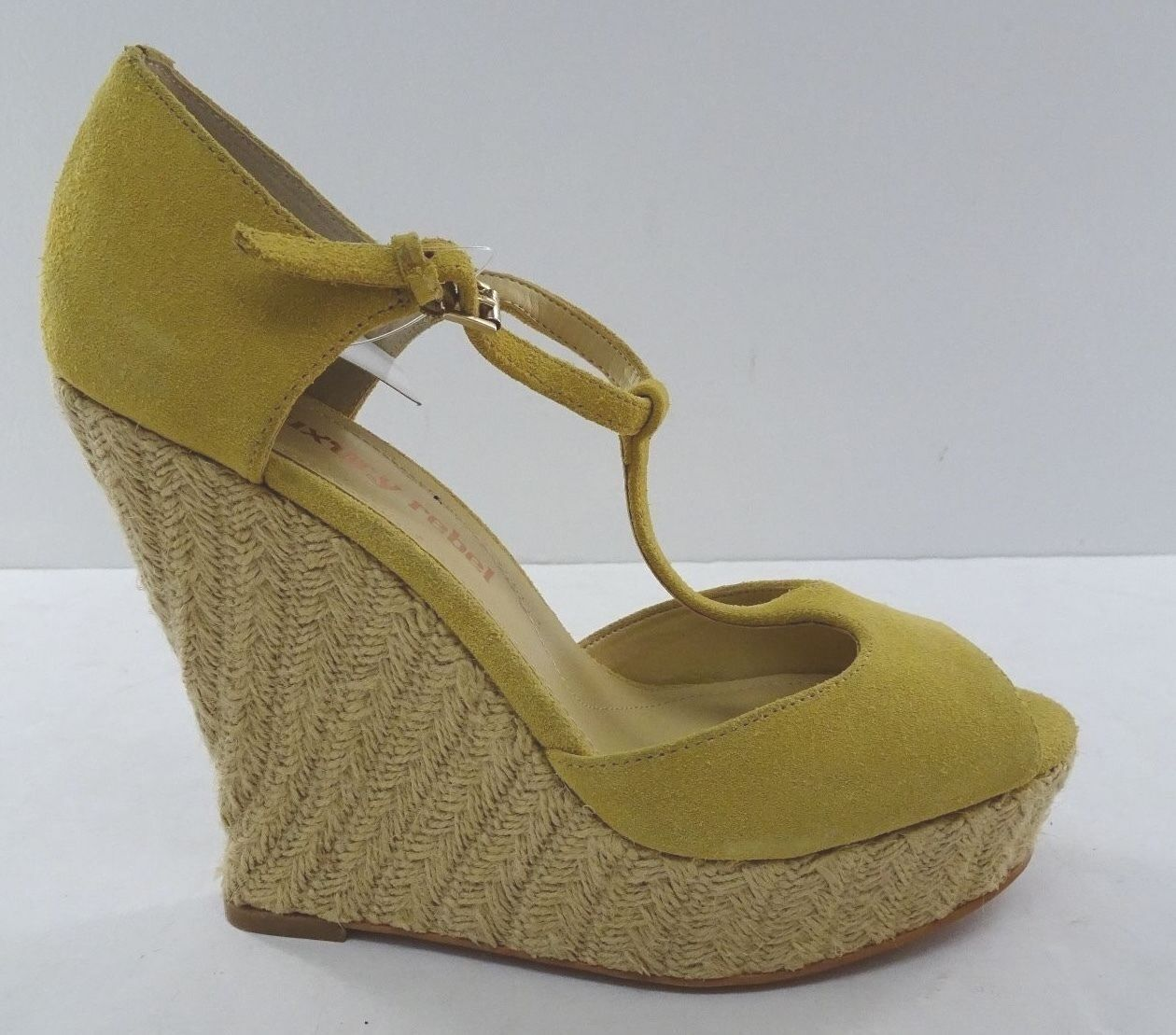 NWD - Womens Luxury Rebel  - Mustard Suede -  US Size 9 - 9.5 -