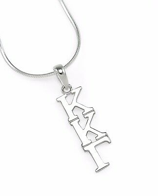 Kappa Kappa Gamma Sorority Sterling Silver Lavaliere Pendant, NEW!***