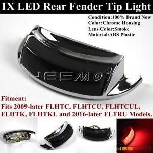 1X-Smoke-Lens-LED-Rear-Fender-Tip-Light-For-Harley-09-Later-FLHTC-FLHTCU-FLHTCUL