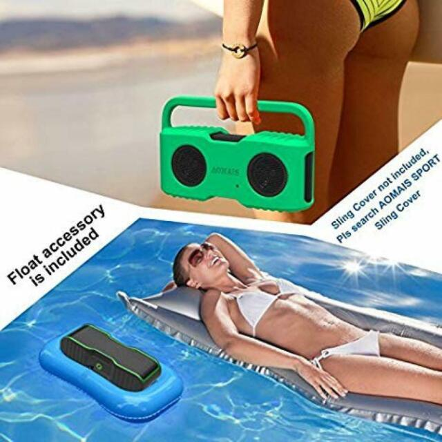 Bluetooth Speakers Sling Cover For AOMAIS Sport II And II+ Waterproof GREEN