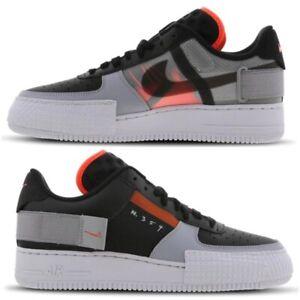 Nike-Air-Force-1-tipo-Sneaker-Uomo-Nero-Grigio-Antracite-Rosso-Edizione-Limitata