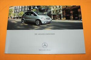 Mercedes-A-Klasse-2001-Prospekt-Brochure-Depliant-Catalog-Folder-Broschyr
