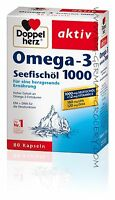 DOPPEL HERZ - OMEGA 3 Seafish oil 1000 - 80 Caplets - German Product