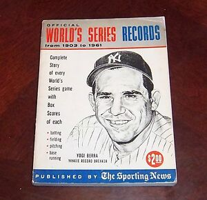 the sporting news world series records 1962 Yogi Berra