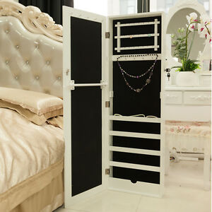schmuckschrank spiegel h ngeschrank schmuck schrank mit spiegel 120 36 9cm wei ebay. Black Bedroom Furniture Sets. Home Design Ideas