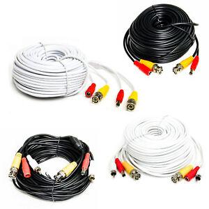 Kombikabel-Uberwachungskamera-BNC-Kabel-Video-Audio-Strom-weis-schwarz-Chinch