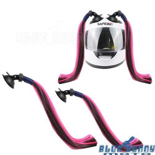 6 Colors Helmet Pigtails Colorful Ponytail Universal Fit Street Bike Snowmobile