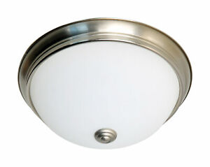 Details About Nuvo Lighting 11 Led Flush Dome Fixture Brushed Nickel