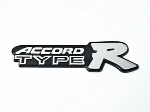 Honda Accord Type R Emblem Black Sticker Letter Badge Logo Badge - Honda accord decals stickers
