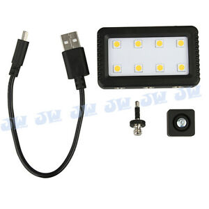 JJC-Mini-Adjustable-LED-Light-with-2-Adapters-for-Camera-Camcorder-amp-Cellphone