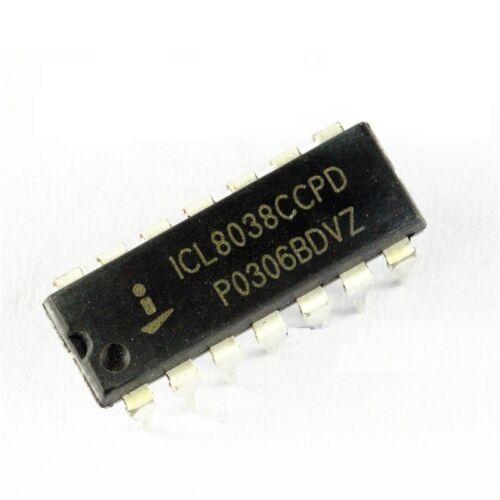 5PCS ICL8038 ICL8038CCPD INTERSIL IC OSCILL GEN//VOLT CONTROL 14DIP NEW