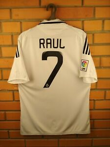 new product 66747 138af Details about Raul Real Madrid jersey medium 2008 2009 home shirt soccer  football Adidas