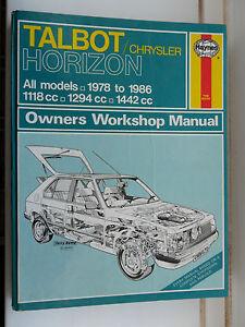chrysler simca talbot horizon omni workshop manual ls lx gl gls gle rh ebay co uk Talbots Fashion Talbots Logo