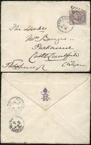 IRELAND 1891 QV 1d ARMAGH DUPLEX + DONAGHMORE + CASTLE CAULFIELD VILLAGE PMKs