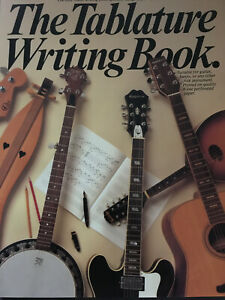 The tablature writing Book-for guitar, banjo or any other folk strumento