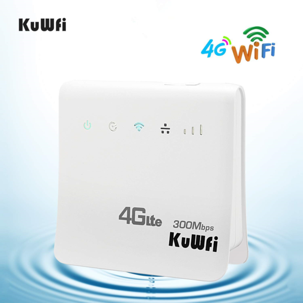 4g Wi-fi Router, Kuwfi Unlocked 300mbps 4g Lte Cpe Mobile Wifi Wireless Router 3 Modieuze Patronen