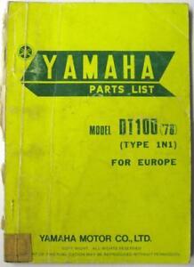 YAMAHA-DT100-1N1-1976-1N1-28198-ES-Original-Owners-Motorcycle-Parts-List