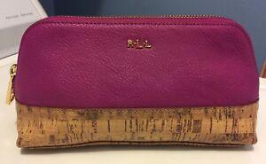381450a89255 Ralph Lauren Cosmetic Case Make up Bag Bembr Cork Tall Summer Rose ...