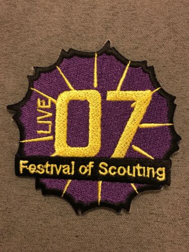 Iron On Scout Badge Centenary 2007 Live 07 Festival of Scouting