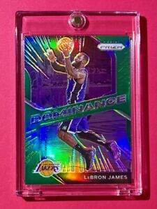 Lebron James GREEN REFRACTOR PANINI PRIZM DOMINANCE SPECIAL INSERT CARD - Mint!