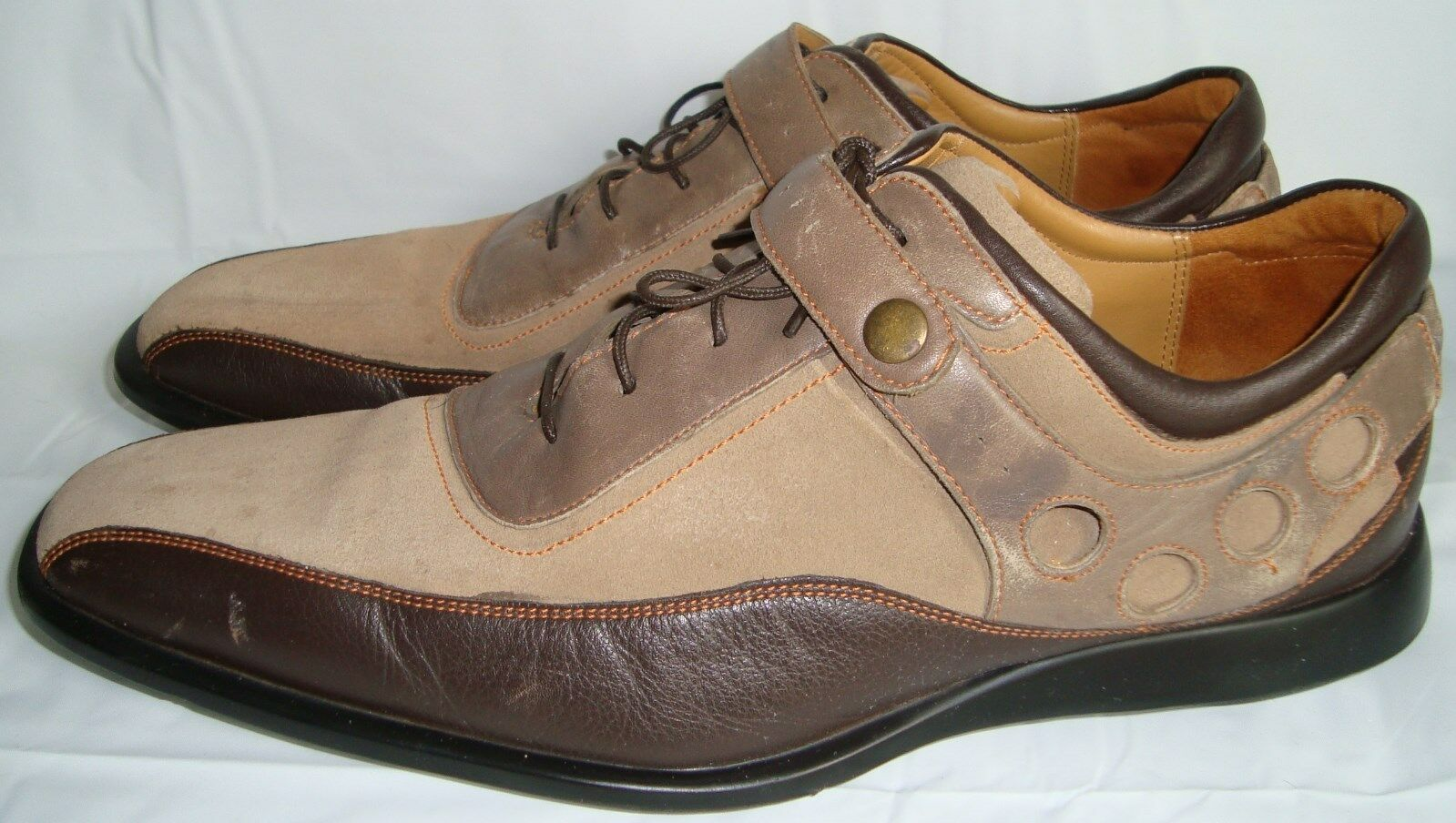 Cole Haan  Braun Tri-Farbeed Oxford Schuhes 10 Spectator Bicycle Toe Schuhes Oxford 10M fb17a7