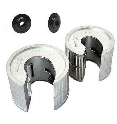 15MM 22MM HEAVY DUTY PIPE TUBE CUTTERS + SPARE WHEELS SLICERS PIPESLICE COPPER