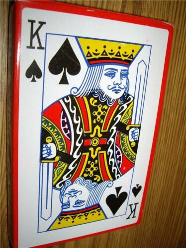 EXTRA LARGE PLAYING CARDS BIG JUMBO GIANT GAMES XL NOT A4 bridge poker