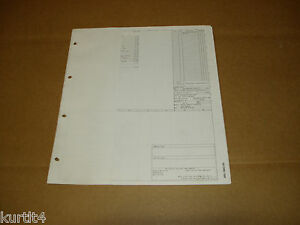 1986 ford f600 f700 f800 cab cowl wiring diagram schematic sheet rh ebay co uk