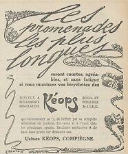 Z8508 Moyeux KEOPS - Pubblicità d'epoca - 1913 Old advertising