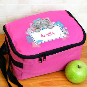 73f37a77b7e9 Details about Personalised Kids Lunch Box Bag Me To You For Girls Insulated  Pink ANY NAME