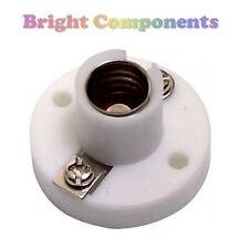 2x MES (E10) Miniature Lamp Light Bulb Holder (White) : 1st CLASS POST