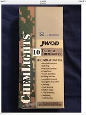 """New in Box Cyalume ChemLight Military Chemical Light Sticks  6"""" 12 Hour  Red"""