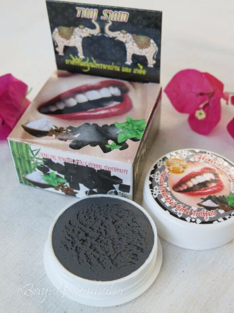 Herbal Toothpaste Charcoal Powder And Salt Scrub To Whiten Teeth