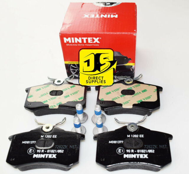 Nuevo Mintex Pastillas De Freno Trasero Conjunto MDB1377 (imagen real de las piezas)