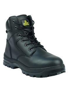 Amblers Safety Mens Black 6 Eyelet Boot Padded Top Various Size FS84
