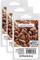 3 Pk (18 Cubes) Holiday Time Scented Wax Cube Melts, Sugared Pecan, 1.25oz -