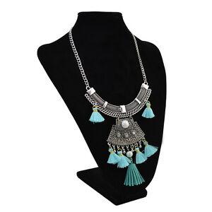 New-Fashion-Silver-Plated-Bead-Pearl-Rhinestone-Tassel-Pendant-Necklace-Jewelry