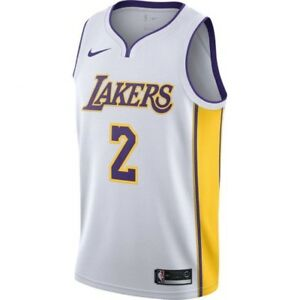competitive price 5aada 161ae Details about NEW- Lonzo Ball Nike NBA Swingman Jersey Lakers White  877209-107 Medium 44