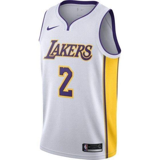 Nike NBA Swingman Lonzo Ball Jersey Lakers White 877209-107 Size ...