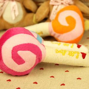1X-Pet-Dog-Puppy-Cat-Squeaky-Squeaker-Sound-Toy-Cotton-Wool-Lollipop-15cm-S-amp-K
