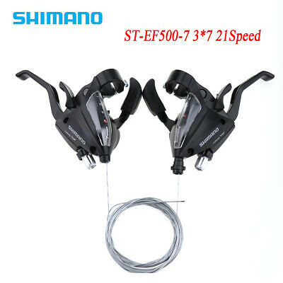 2x EF500-7 3 x 7 Speeds MTB Bike Brake Levers Set Shifter Shift w// Inner Cables