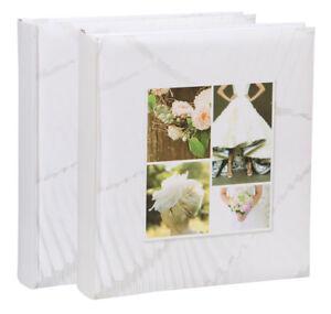 2x-Fotoalbum-Wedding-II-30x30-cm-100-weisse-Seiten-Hochzeit-Foto-Album-Buchalbum
