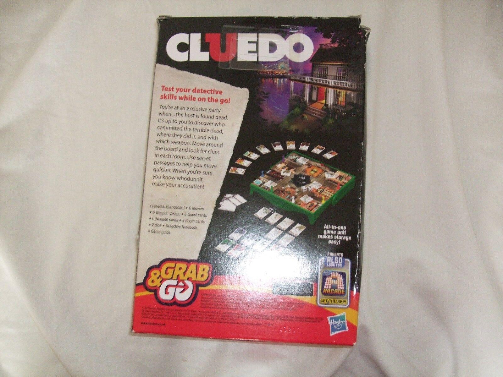 Grab & Go Travel Cluedo JUEGO. JUEGO. JUEGO. Hasbro GAMING v.g.c. f1ccd8